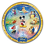 Disney Characters Magic Moments Heirloom Porcelain Collector Plate With Custom-Designed Presentation Case