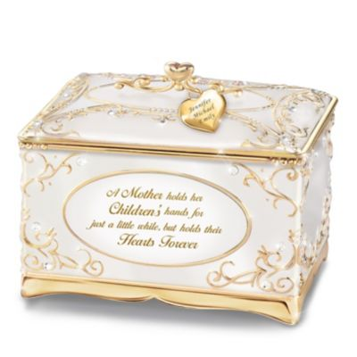 Bradford Exchange A Mother's Love Personalized 18K Gold Plated
