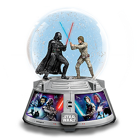 STAR WARS Forces Of Light & Dark Illuminated Glitter Globe