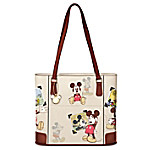 Disney Retro Mickey Mouse Women's Handbag With Gold-Toned Charm