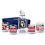 Oklahoma Sooners Legacy Glass Container And Glassware Set