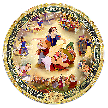 80th Anniversary Disney Snow White And The Seven Dwarfs Collector Plate