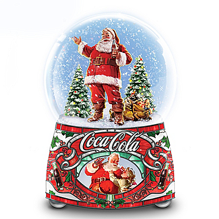 COCA-COLA Share The Joy Illuminated Glitter Globe