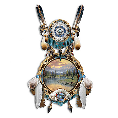 Thomas Kinkade Native Beauty Sculptural Dreamcatcher Wall Decor