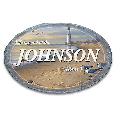 Life's A Beach Personalized Outdoor Welcome Sign – Personalized Jewelry