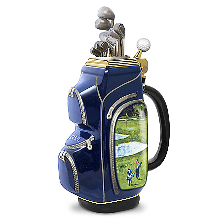 19th Hole Personalized Heirloom Porcelain Golf Bag Stein