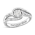 Our Love For Always Women's Personalized Diamond Ring