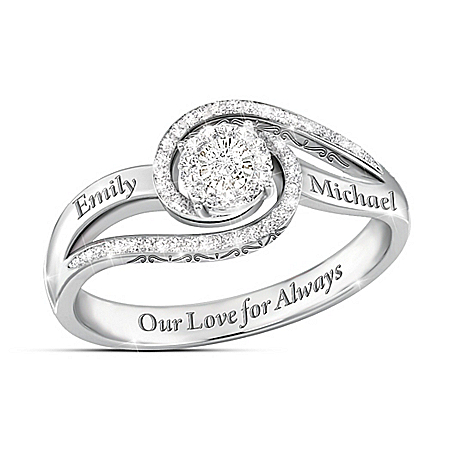 Our Love For Always Women's Personalized Diamond Ring – Personalized Jewelry