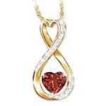 Forever And Ever Women's Personalized Diamond Pendant Necklace