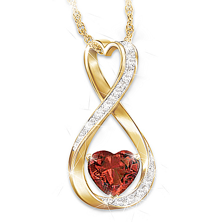 Forever And Ever Women's Personalized Diamond Pendant Necklace – Personalized Jewelry