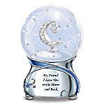 Friend, I Love You To The Moon And Back Musical Glitter Globe