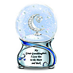 Great-Granddaughter, I Love You To The Moon And Back Musical Glitter Globe