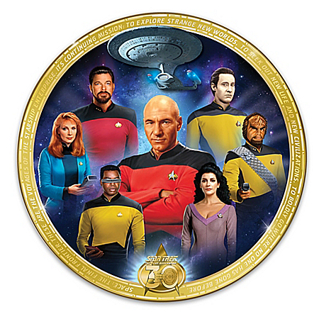 STAR TREK The Next Generation 30th Anniversary Collector Plate: 1 of 3000