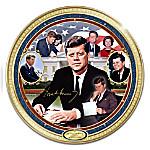 John F. Kennedy Commemorative Heirloom Porcelain Collector Plate