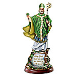 St. Patrick - Illuminations Of Ireland Sculpture With Sculpted Base Inspired By Thomas Kinkade's Artistry