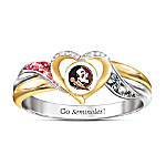 Florida State Seminoles Women's 18K Gold-Plated Pride Ring