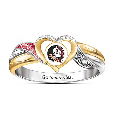 Florida State Seminoles Women's 18K Gold-Plated Pride Ring