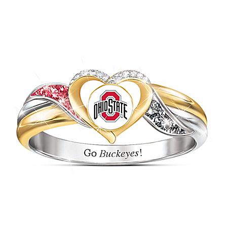 Ohio State University Buckeyes Women's Sterling Silver Pride Ring