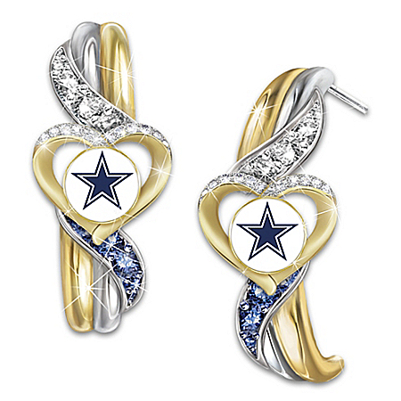 Dallas Cowboys Pride Women's Pierced Earrings