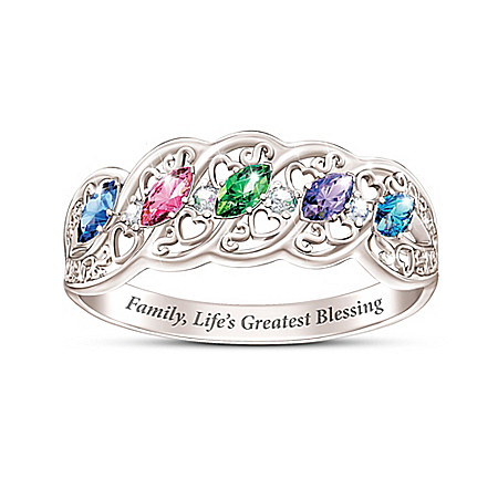 The Gift Of Family Women's Personalized Birthstone Ring – Personalized Jewelry