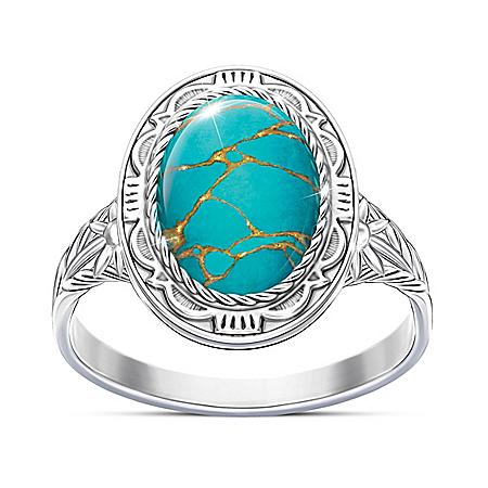 Santa Fe Spirit Women's Blue Mojave Turquoise Ring