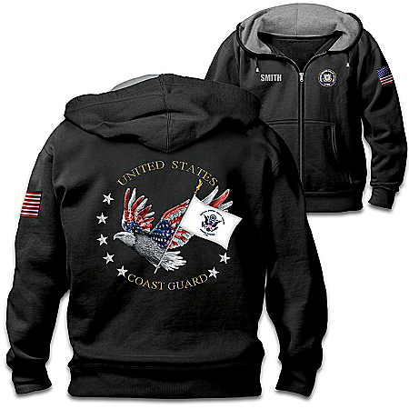 U.S. Coast Guard Pride Personalized Men's Knit Hoodie