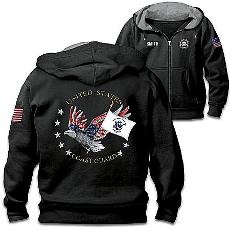 U.S. Coast Guard Pride Personalized Men's Knit Hoodie