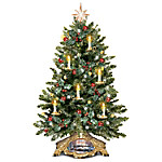 Thomas Kinkade Holiday Traditions Tabletop Tree With Flickering Flameless Candles