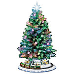 Thomas Kinkade Holiday Sparkle Color-Changing Fiber-Optic Tabletop Christmas Tree