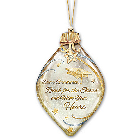 Heartfelt Wishes For The Graduate Personalized Christmas Tree Ornament