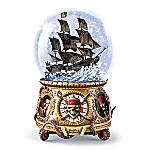 Disney Pirates Of The Caribbean Musical Glitter Globe