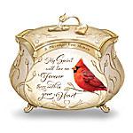 James Hautman A Messenger From Heaven Cardinal Heirloom Porcelain Music Box