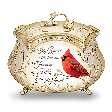 Image of Messenger From Heaven Northern Cardinal Bird Music Box
