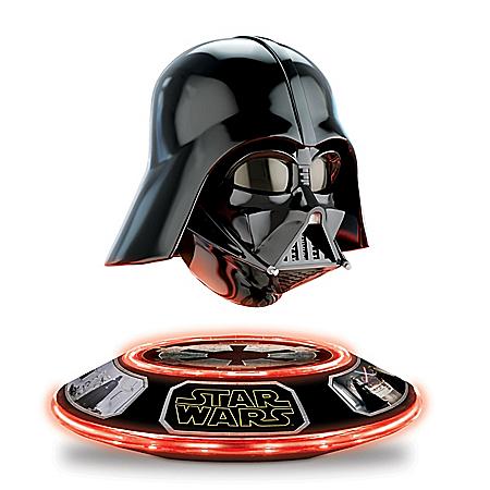 STAR WARS Darth Vader Collectible Helmet Levitates and Rotates: Lights Up