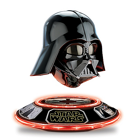 STAR WARS Darth Vader Collectible Helmet Levitates and Rotates: Lights Up