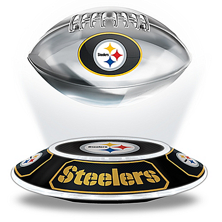 Pittsburgh Steelers NFL Illuminated Levitating Football Sculpture from The Bradford Exchange Online Product Image