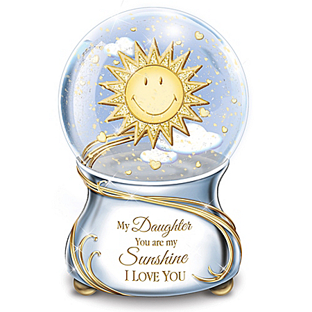My Daughter, You Are My Sunshine Musical Glitter Globe