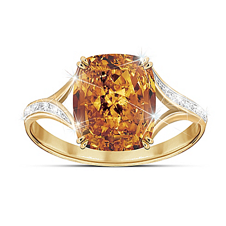 Golden Celebration Women's Diamonesk Ring