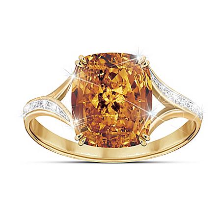 Golden Celebration Women's Diamonesk Ring