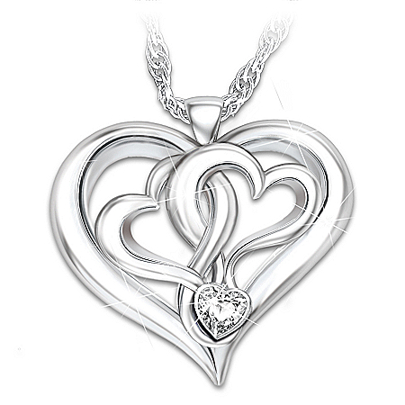 kathy ireland Beautiful Daughter Heart-Shaped Pendant Necklace