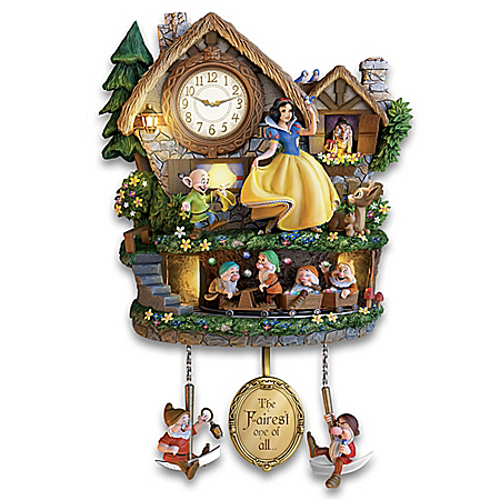 Disney Snow White Hidden Treasure Illuminated Cuckoo Clock