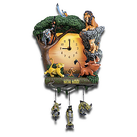 Disney The Lion King Hakuna Matata Day-To-Night Sculptural Wall Clock