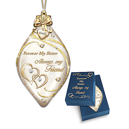 Forever My Sister Personalized Ornament – Personalized Jewelry
