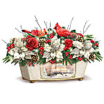 Thomas Kinkade Treasures Of The Season Always In Bloom Holiday Table Centerpiece