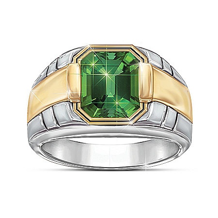 Force Of Nature Men's Helenite Ring