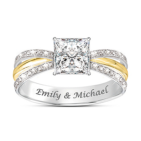 All Our Love Women's Personalized Cut Topaz Ring – Personalized Jewelry