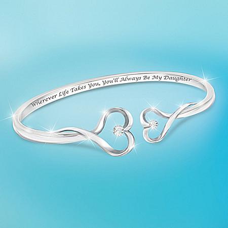 Always My Daughter Heart-Shaped Diamond Bracelet