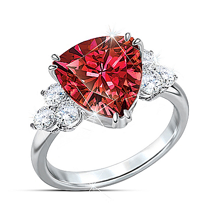 Rarest Red Women's Diamonesk Ring
