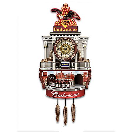 Budweiser Brewery Tour Illuminated Wall Clock