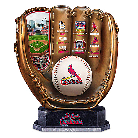 St. Louis Cardinals MLB Cold-Cast Bronze Commemorative Glove Sculpture